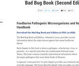 The Bad Bug Book: Handbook of Foodborne Pathogenic Microorganisms and Natural Toxins