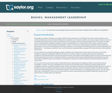 Management Leadership (Business 401)