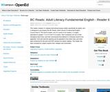 BC Reads: Adult Literacy Fundamental English - Reader 6
