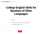 College English Skills for Speakers of Other Languages (ESOL)