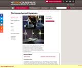 Electromechanical Dynamics, Spring 2009