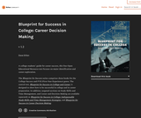Blueprint for Success in College: Career Decision Making