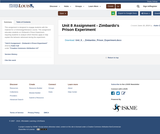 Unit 8 Assignment - Zimbardo's Prison Experiment