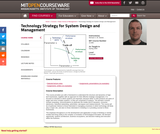 Technology Strategy for System Design and Management, Spring 2009