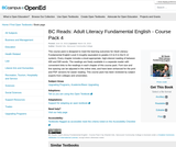 BC Reads: Adult Literacy Fundamental English - Course Pack 4