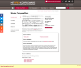 Music Composition, Fall 2008