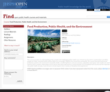 Nutritional Health, Food Production, and the Environment