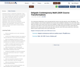 Delgado Contemporary Math (OER Course Transformation)