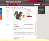 Multivariable Calculus with Theory, Spring 2011