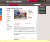 Design and Manufacturing I, Spring 2009
