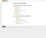 CS 160 Course Reader: Introduction to Computer Science