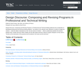 Design Discourse: Composing and Revising Programs in Professional and Technical Writing