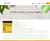 A First Course in Linear Algebra