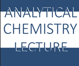 Analytical Chemistry Lecture Syllabus