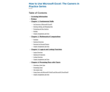 How to Use Microsoft Excel: The Careers in Practice Series