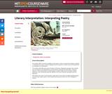 Literary Interpretation: Interpreting Poetry, Fall 2003
