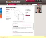 Algebraic Geometry, Spring 2009
