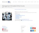 Management Principles Online Course