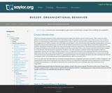Organizational Behavior (Business 209)
