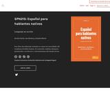Español para hablantes nativos: Lenguaje en acción