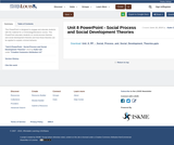 Unit 8 PowerPoint - Social Process and Social Development Theories