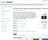 BC Reads: Adult Literacy Fundamental English – Reader 5