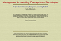 Management Accounting Concepts and Techniques