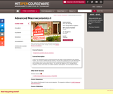 Advanced Macroeconomics I, Fall 2012
