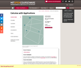Calculus with Applications, Spring 2005