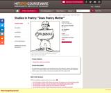 Studies in Poetry: Does Poetry Matter, Fall 2002