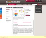 Introduction to Nanoelectronics, Spring 2010