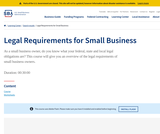 Legal Requirements for Small Business