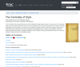 The Centrality of Style