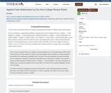Applied Finite Mathematics by De Anza College Review Rubric