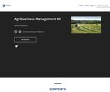 Agribusiness Management 101