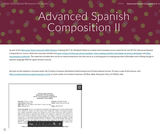 Advanced Spanish Composition II