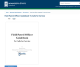 Field Patrol Officer Guidebook To Calls for Service