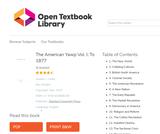 The American Yawp Volume I: To 1877