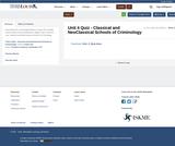 Unit 4 Quiz - Classical and NeoClassical Schools of Criminology