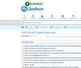 Why Should Decision Makers Trust Financial Statements: End-of-Chapter Exercises