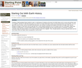 Starting Out With Earth History