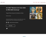 """Art 205 """"Western Art from 18th to Mid 20th Century"""""""
