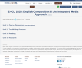 ENGL 1020: English Composition II: An Integrated Media Approach