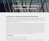 Money and Banking / Financial Economics