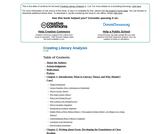 Creating Literary Analysis