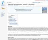 Autonomic Nervous System - Anatomy & Physiology