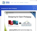Designing for Open Pedagogy
