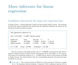 More inference for linear regression