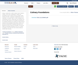 Culinary Foundations