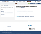 Introduction to Poetry and/or Drama Materials